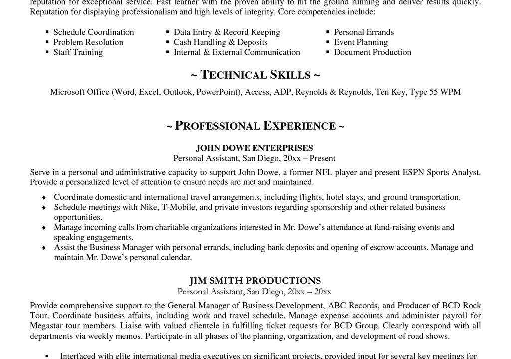sample profile summary for resumes
