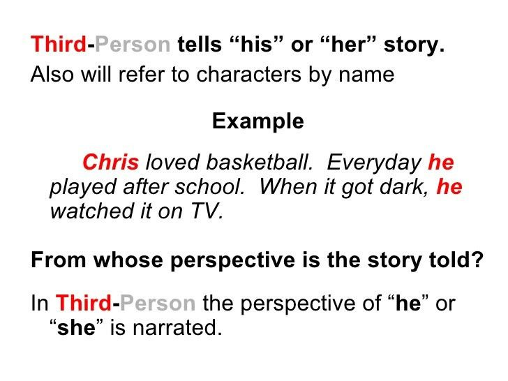 3rd person essay examples