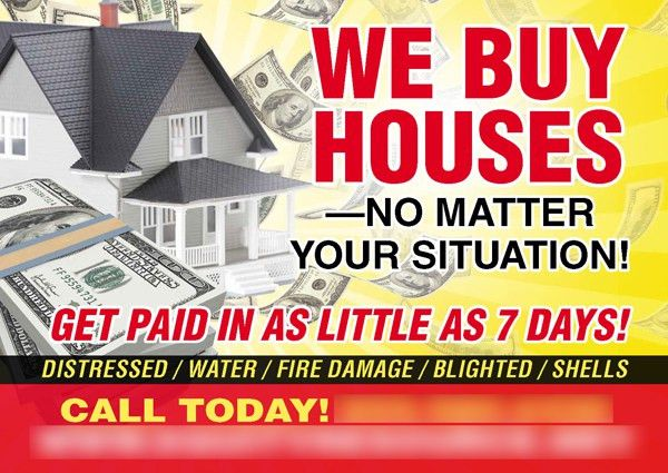 We Buy Houses Postcard Template – Washington, D.C. Real Estate ...