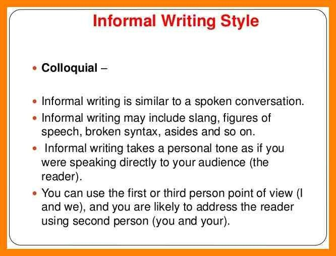 8+ informal writing example | pattern resume