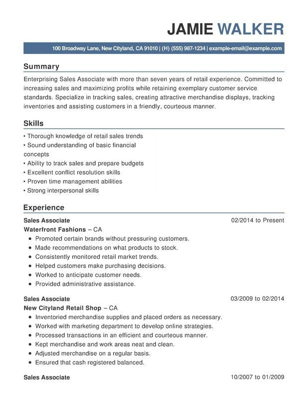 sample of functional resumes