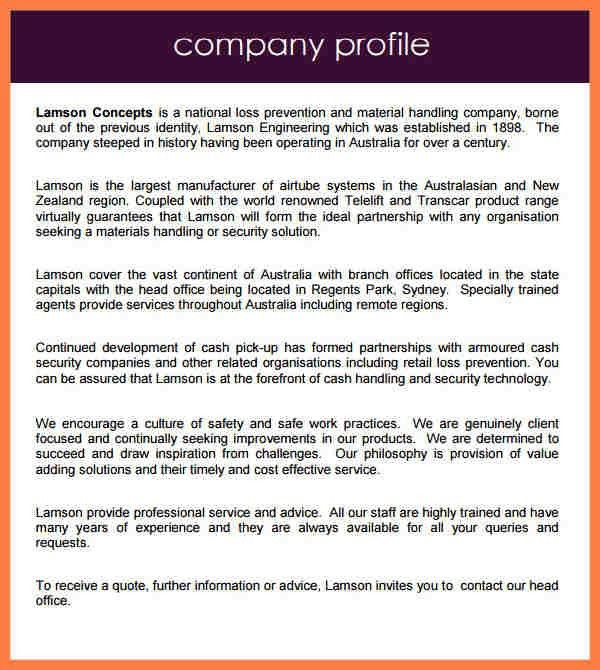 4+ Company Profile Template Doc | Company Letterhead  Company Profile Template Doc