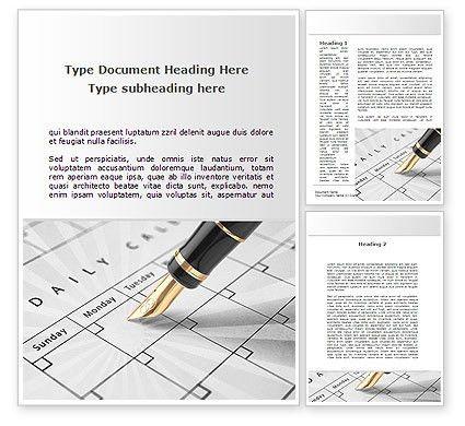Diary Word Template 09081 | PoweredTemplate.com