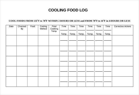 Food Log Template - 29+ Free Word, Excel, PDF Documents | Free ...