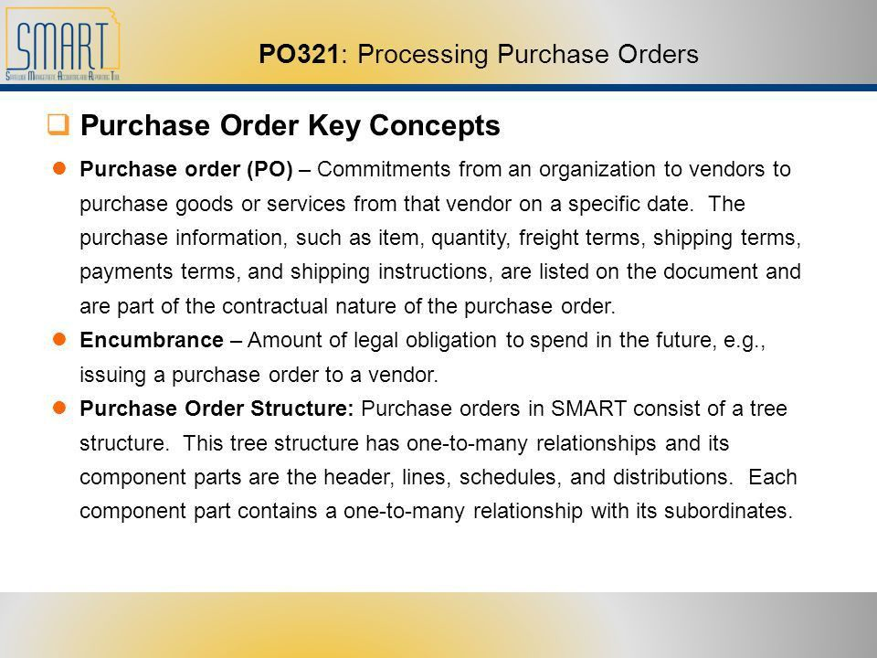 1 PO321: Processing Purchase Orders. 22 Training Agenda  Welcome ...