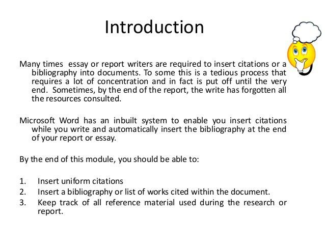How to insert references and bibliography into your Word document