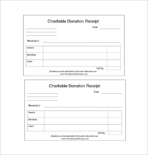 Donation Receipt Template – 9+ Free Word, Excel, PDF Format ...