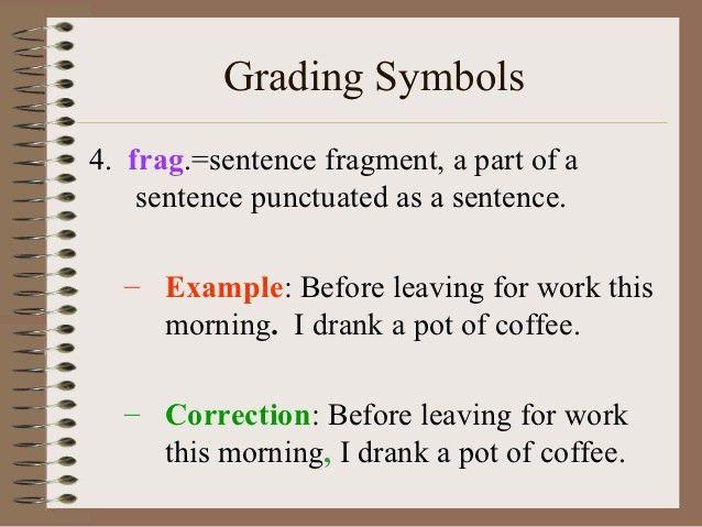 Essay Tips & Grading Symbols