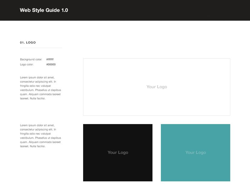 Free Web Style Guide PSD Template by Rafal Tomal - Dribbble