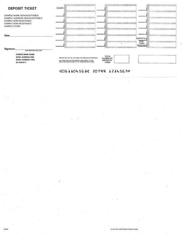 Checks Template Printable Bank Deposit Slip Template Check Deposit ...