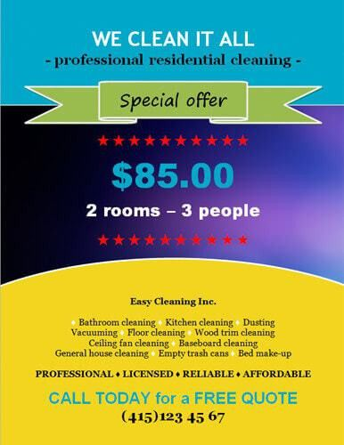 14 Free Cleaning Flyer Templates [House or Business]