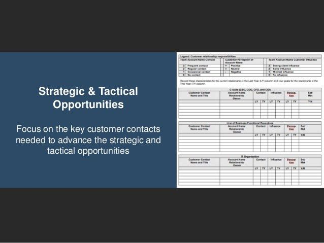 Go to Market Strategy - Strategic Account Plan Template