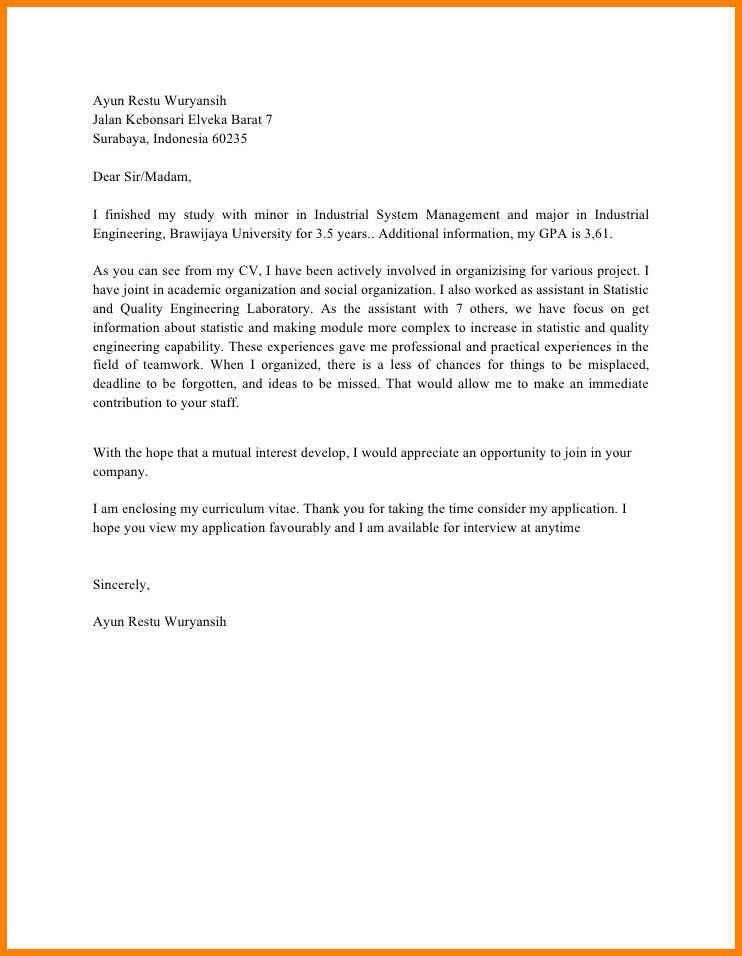 18+ [ Cashier Cover Letter ] | 6 Contoh Request Letter Untuk ...