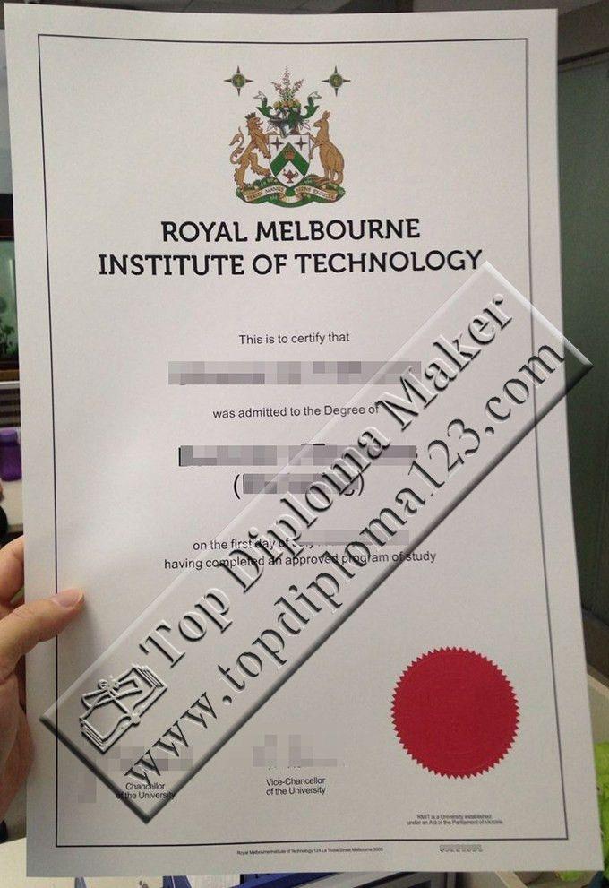RMIT degree certificate, RMIT diploma sample   Buy certificate ...