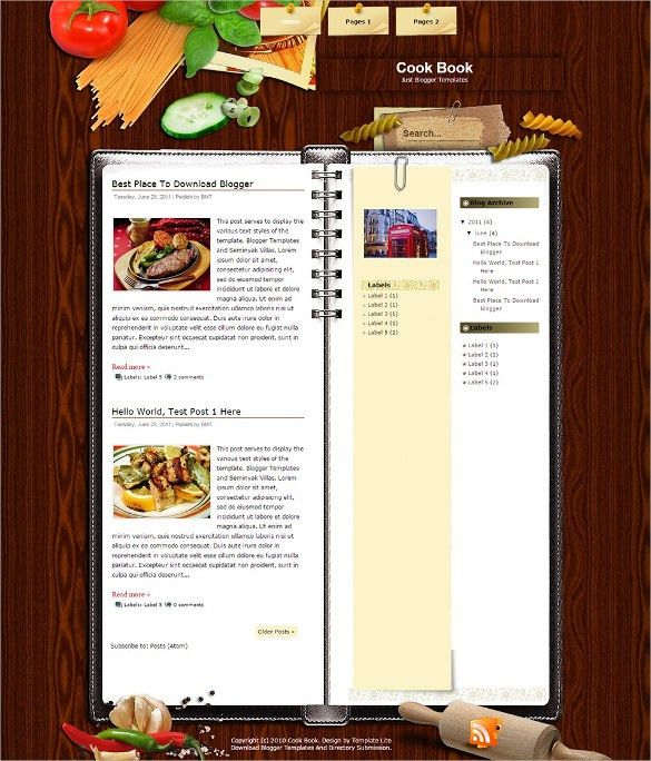 Cookbook Template. Cookbook Template – 31+ Free Psd, Eps, Indesign ...