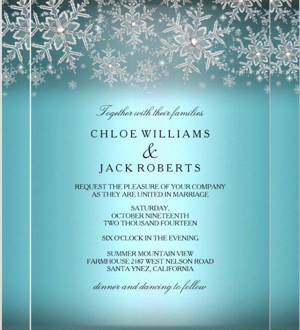 15+ Winter Wedding Invitation Templates – Free Sample, Example ...
