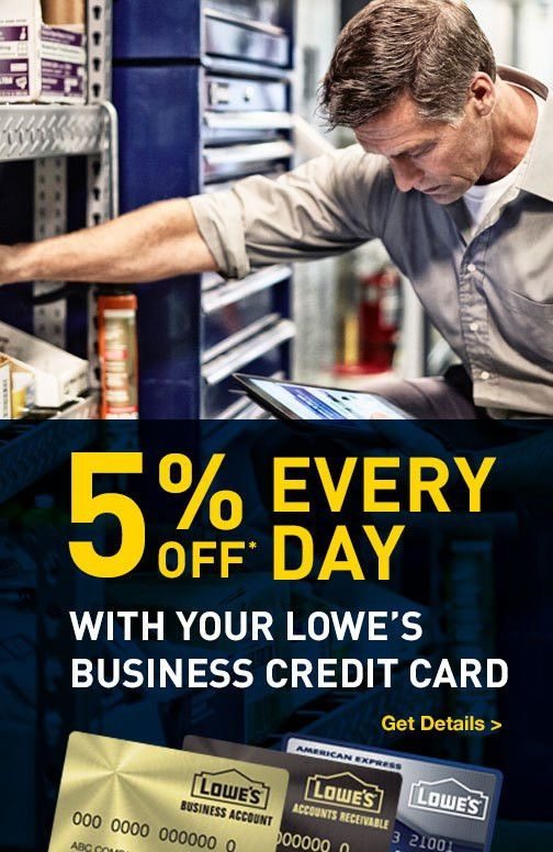 Business Credit Center | Lowe's for Pros