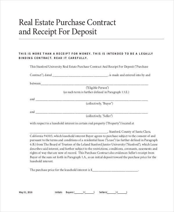 Sample Deposit Receipt Form - 10+ Free Documents in PDF