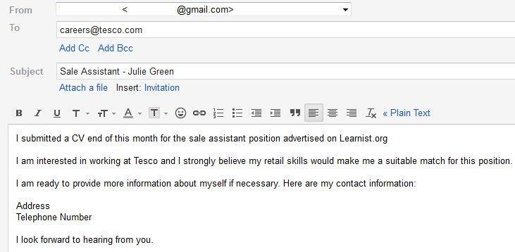 Resume Follow Up Email Samples After Sending Cv Jobmap