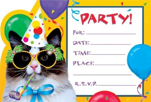 Party Invitations: Simple Party Invite Template Design Ideas Kids ...