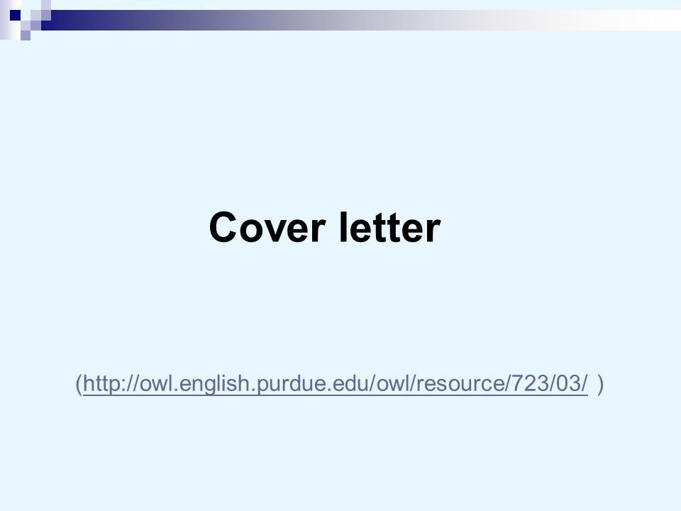 purdue owl cover letter writing a professional letter to a company ...