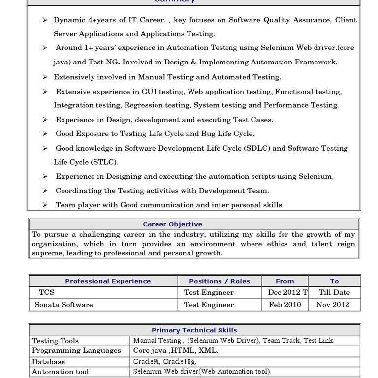 manual testing experienced resume 1 software testing software bug ...