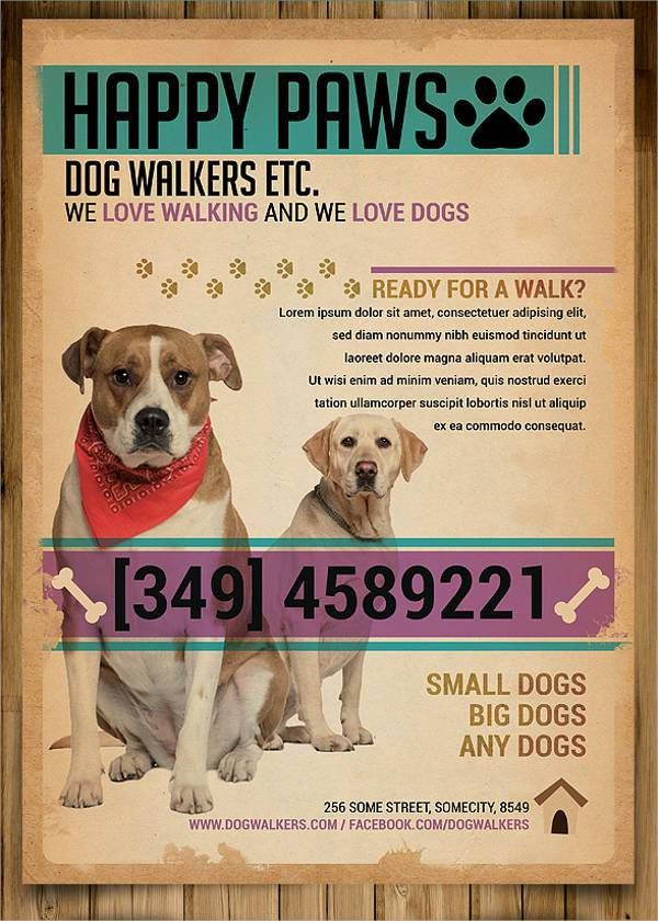 Dog Walking Flyer Templates - 7+ Free PSD, Vector AI, EPS Format ...
