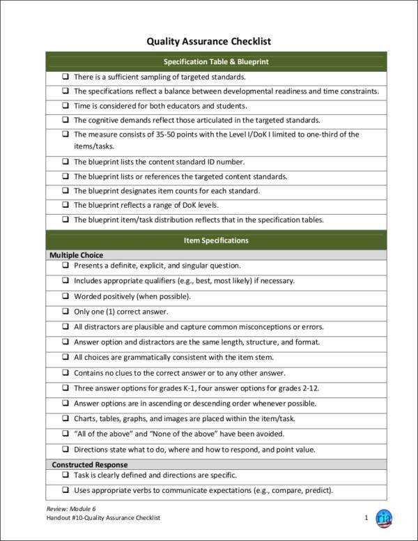 40+ Printable Checklist Templates - Free Word, PDF Format Download
