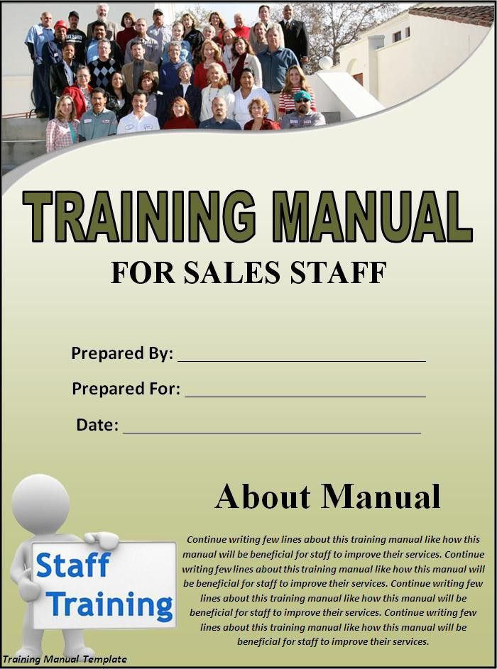 Training Manual Template - Word Excel PDF