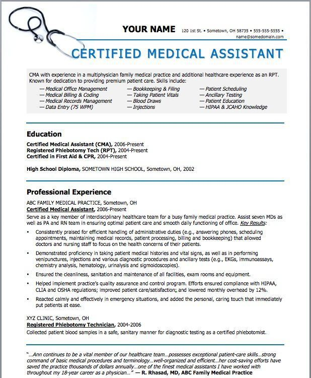 medical assistant resume. medical assistant resume examples no ...