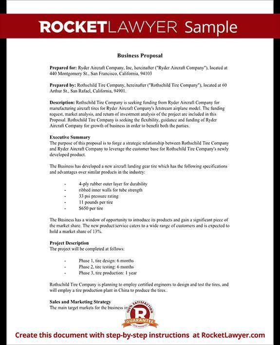 Sample Professional Proposal Template. Free Business Proposal ...