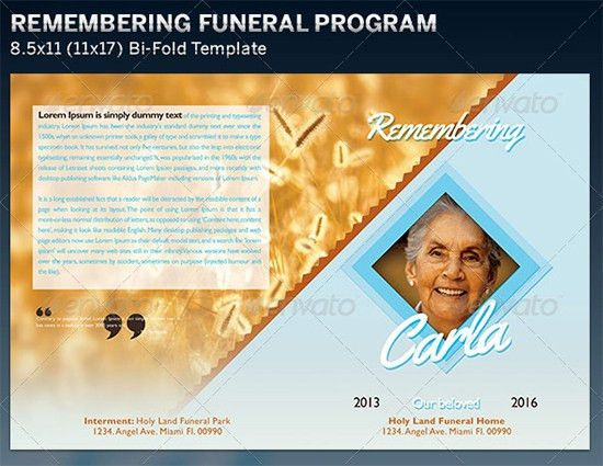 8+ Free Funeral Program Templates - Word Excel PDF Templates