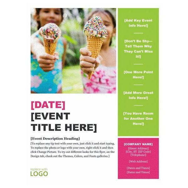 free printable event flyer templates