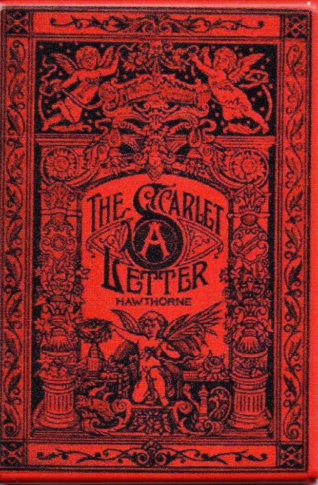 The Scarlet Letter Antique Book Cover Magnet – The Marble Faun ...