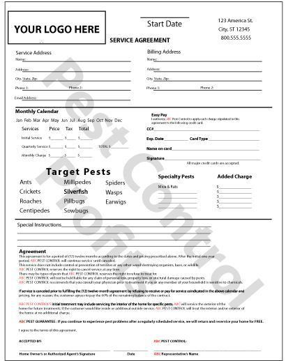 Sample Cleaning Contract Template. 9 Best Forms Images On ...