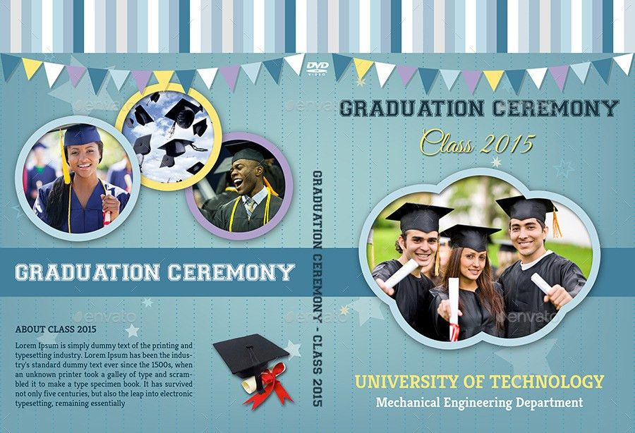 Graduation Ceremony DVD Cover and Label Template by OWPictures ...