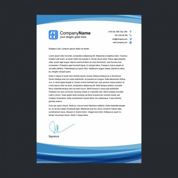 Blue letterhead template Vector | Free Download