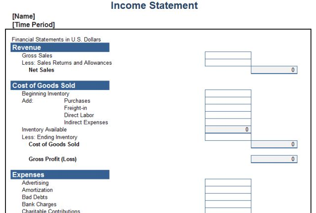 Simple Income Statement Template. awesome proper income statement ...