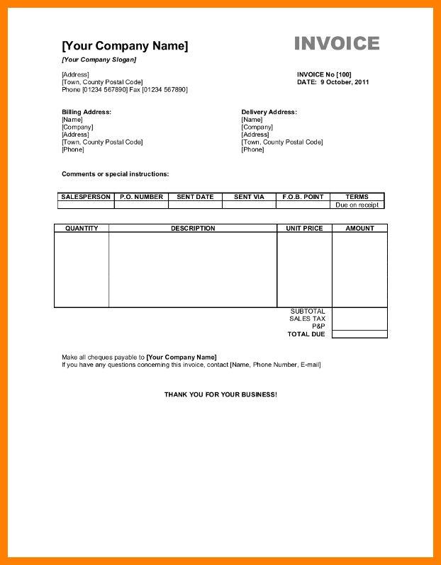 5+ sample bill format in word | science-resume