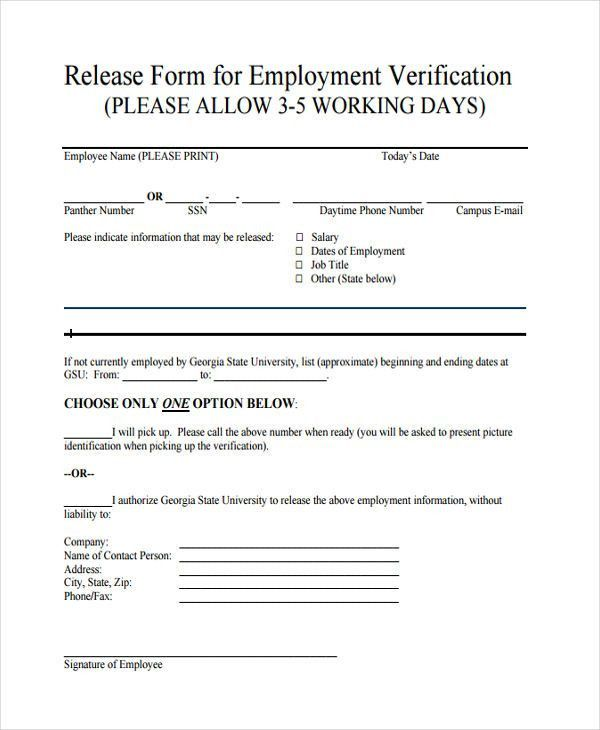 9+ Employment Verification Form Samples - Free Sample, Example ...