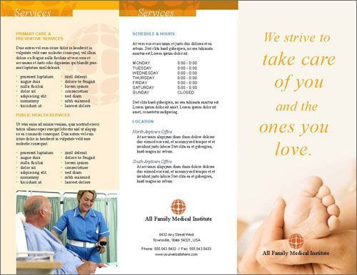 Free medical or health clinic brochure InDesign template | Free ...