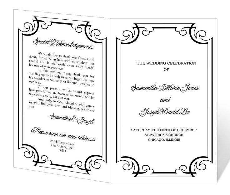 84 best Wedding programs images on Pinterest | Fan programs ...