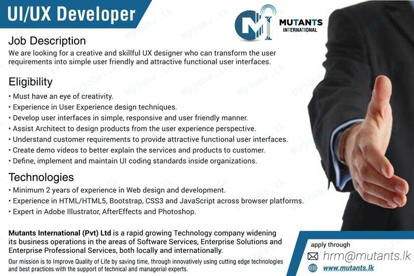 Ux Designer Job Description. Unusual Design Ui Developer Resume 10 ...
