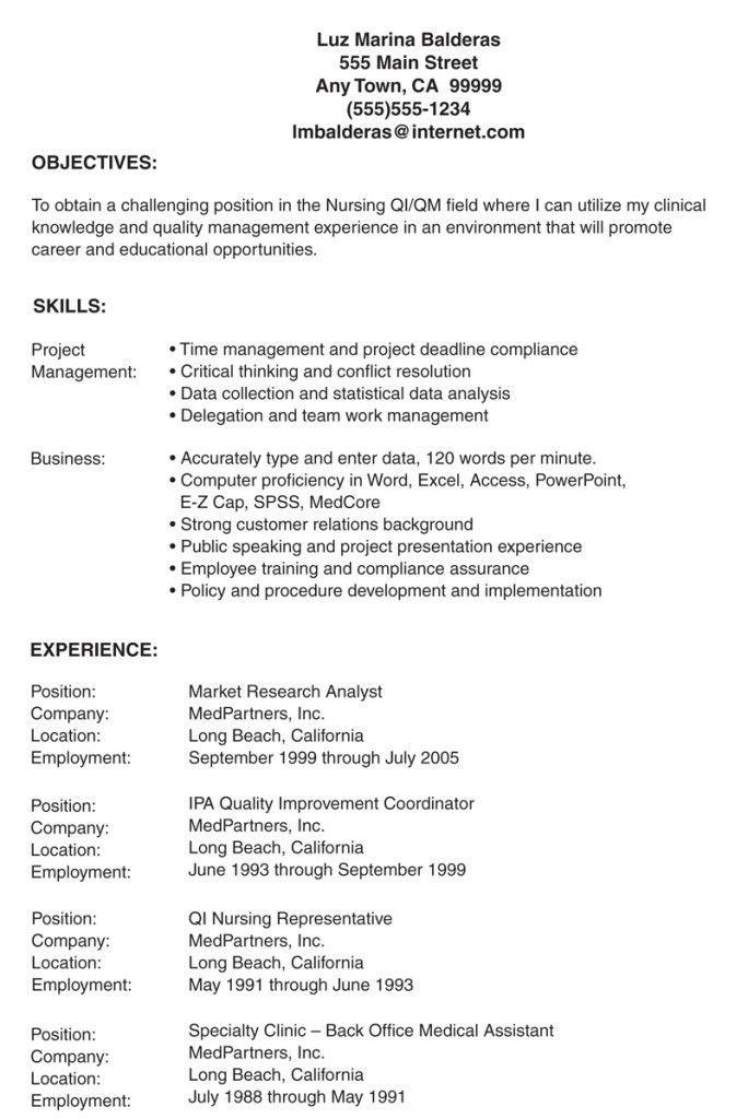 Lpn Resume Objective [Template.billybullock.us ]