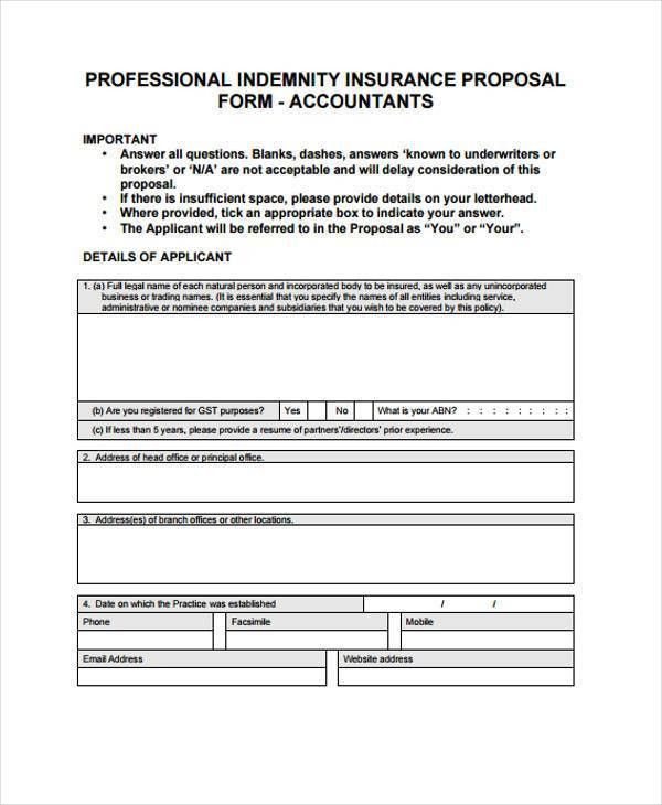 9+ Contractor Proposal Form Samples - Free Sample, Example Format ...