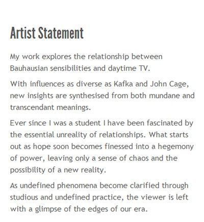 how to write an artists statement | Artist Statement Writing ...