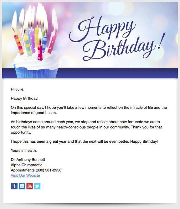 Patient Birthday Emails | Perfect Patients chiropractic website ...