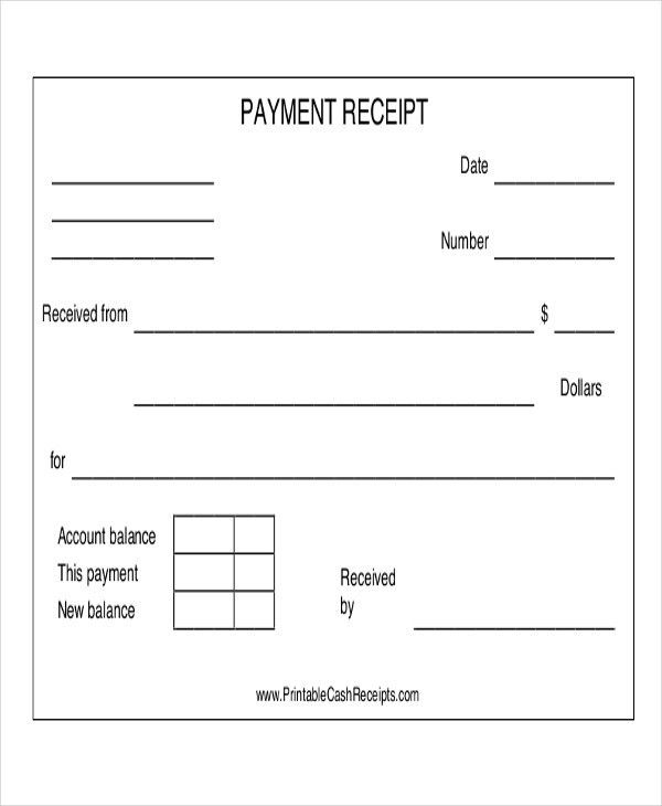 Payment Receipt Acknowledgement - 7+ Examples in Word, PDF