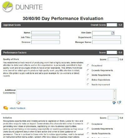 Creating effective employee evaluation forms in Halogen ...