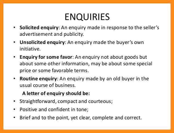 14+ sample letter of enquiry | resume setups